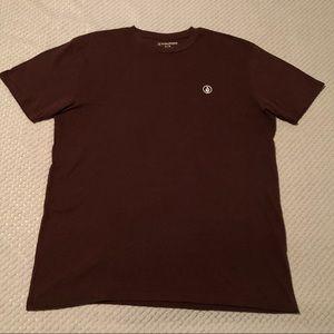 Volcom Burgundy/Maroon Short Sleeve T-Shirt
